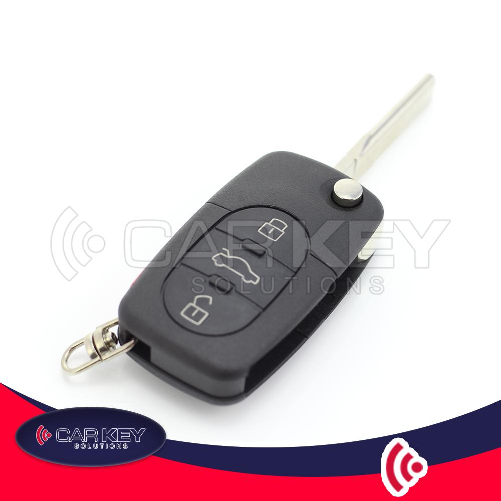 Audi – Klappschlüssel, 3 + 1 Tasten, Paniktaste – CK002007