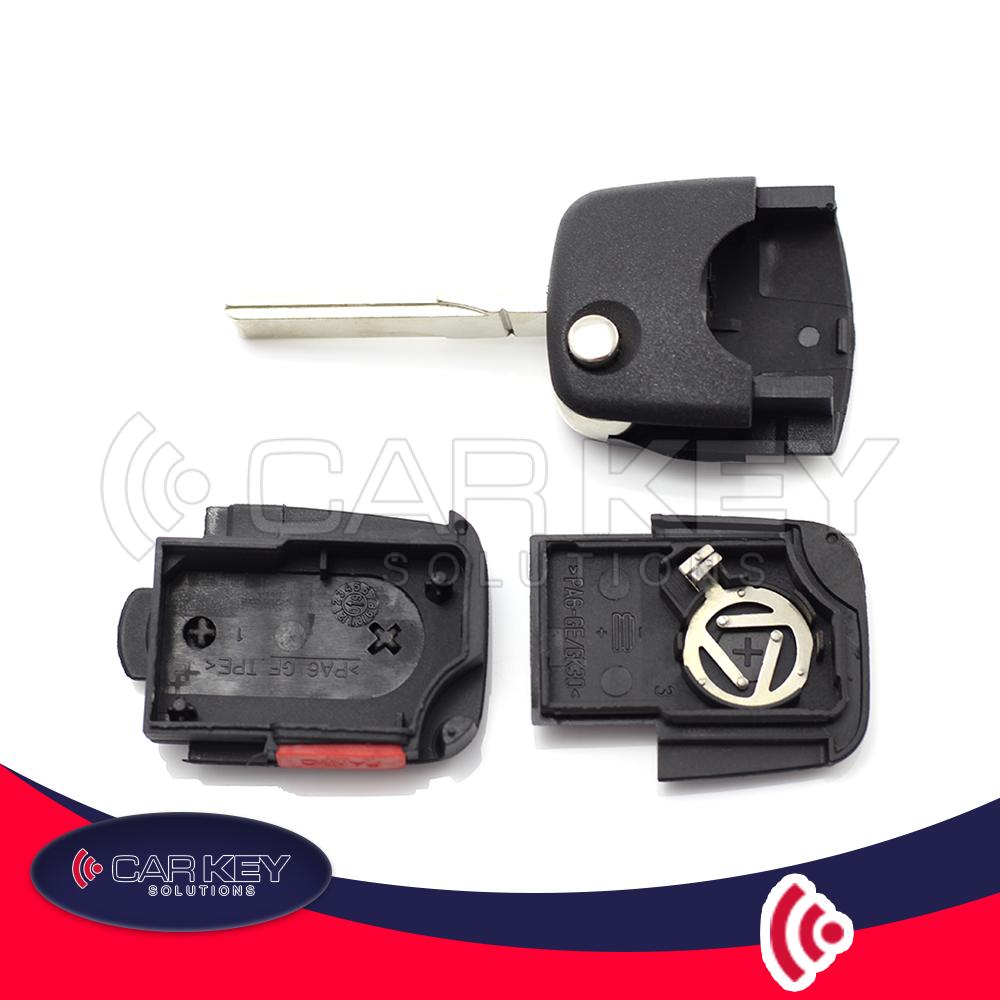 Klappschlüssel für Audi – 2 Tasten – CK002009