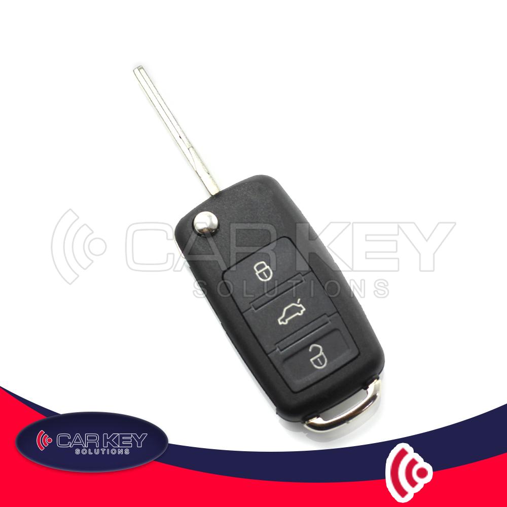 Audi A8 – Klappschlüssel mit 3 Tasten + panic button – CK002015